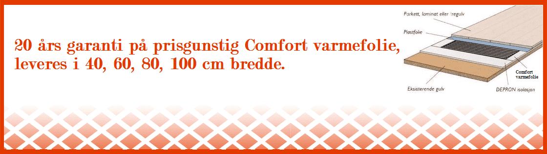 Varmefolie Comfort