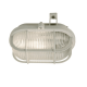 Skotlampe Oval Utelampe Hvit E27/60W IP44