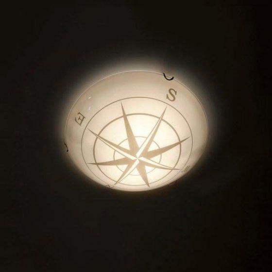 Kompass Taklampe Opal 2 x E14/40W  Ø:30