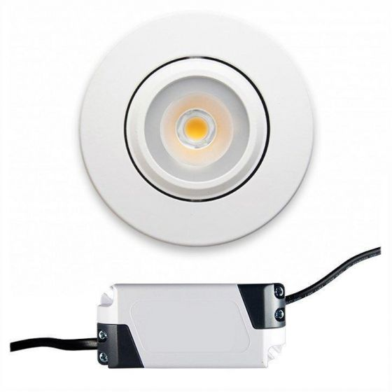 Globe Downlight Superlav Infinity 5W LED m/driver 28mm Hvit
