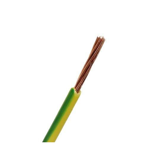 PN kabel 4,0mm2  Gul/Grønn  Ø 4,4mm-met