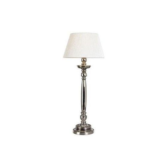 Salvador Bordlampe Antikk Sølv E27 u/ skjerm IP-20