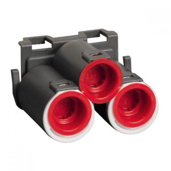 Trippelstuss  2x16/20+1x16mm for Schneider veggboks