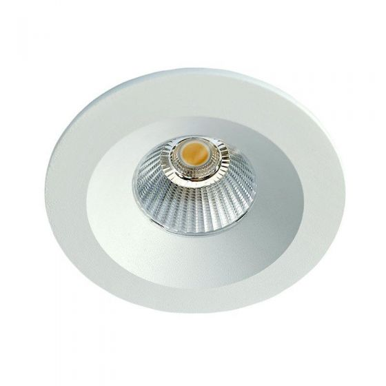 Sun Downlight Lavtbyggende 9W LED m/driver 48mm Matt Hvit