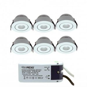 Capella Flex Downlight Mini 6 x 3W LED m/driver Hvit