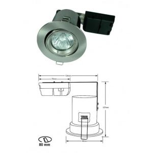 Optime FR1002 Brannsikker Downlight 35W GU10 230V Alu