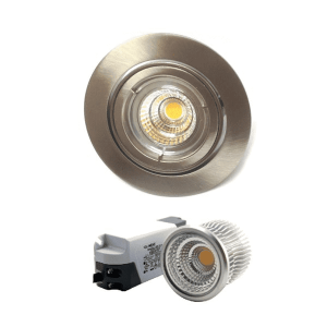 Mercur Downlight Lavtbyggende Infinity 7W LED m/driver 48mm Børstet Stål