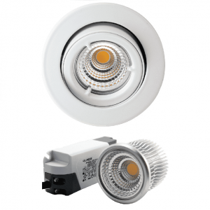 Mercur Downlight Lavtbyggende Infinity 7W LED m/driver 48mm Matt Hvit