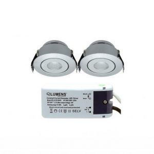 Capella Flex Downlight Mini 2 x 3W LED m/driver Aluminium