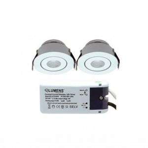 Capella Flex Downlight Mini 2 x 3W LED m/driver Hvit