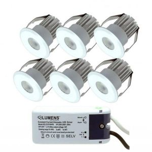 Capella IP44 Downlight Mini 6 x 3W LED m/driver Hvit