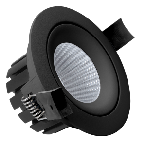 Comfortled Lucca Tilt m/COB LED 10W Sort IP54 2200-2800K WARMDIM
