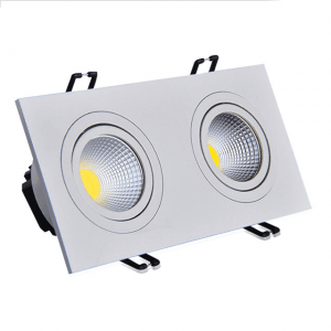 Plaza Downlight Lavtbyggende Infinity 2 x 7W LED m/driver 48mm Hvit
