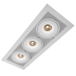 Q-light Dorado Trio 3x7W LED hvit IP54