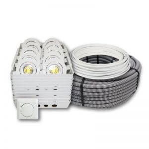 Downlight pakke LED 1 - Lav 7W m/driver x 10