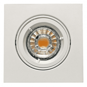 El Downlight Square 230v Nord GU10 5,5W LED Hvit