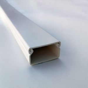 Kabelkanal underdel/lokk 40,0x40,0mm Hvit (2 met.)