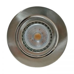 Mercur Downlight Circle 230v Nord GU10 5,5 W LED 2700k Børstet stål
