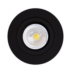 Mercur Downlight uten pære Rund IP20 230V  GU10 Matt Sort