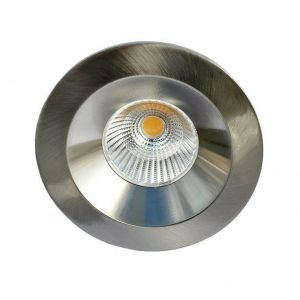 Sun Downlight Lavtbyggende 9W LED m/driver 48mm Børstet Stål
