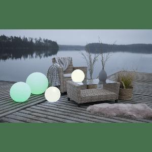 TWILIGHTS utendørs lampe RGB m/fjernkontroll rund 30 cm