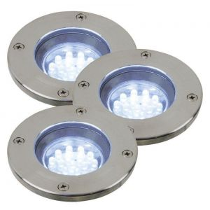 Tilos Rund Uplight GU10/1,1W LED IP-67 3 pak